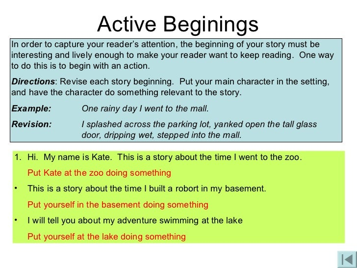 Funny Beginnings to Stories Beginning of Your Story
