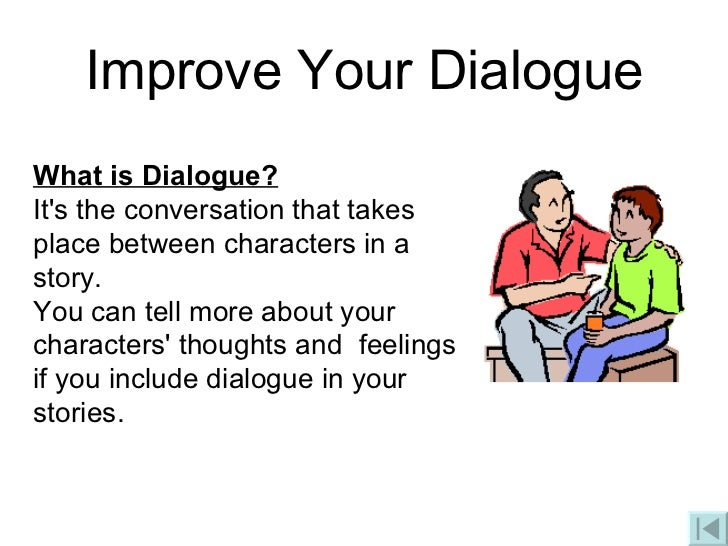 What dialogue looks like in a essay