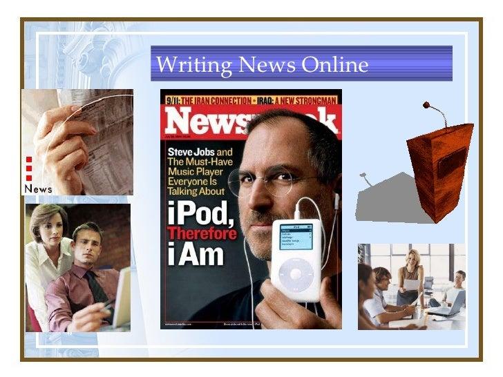 Writing News Online