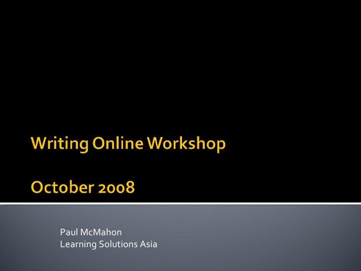 Paul McMahon Learning Solutions Asia