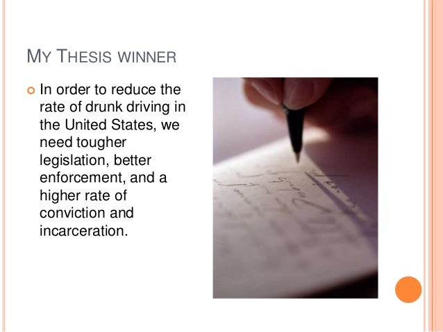 Drunk Driving Essay Outline