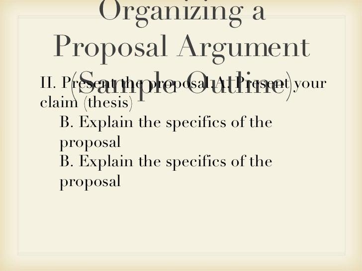 Argumentative essay proposal sample