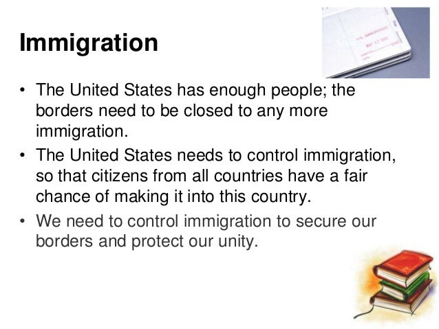 good thesis statement about immigration Introduction to the thesis statement: american history a thesis expresses the judgment of someone who has thoughtfully examined a body of evidence on a topic it is an informed and debatable statement that is the foundation of any effective expository writing or research project.