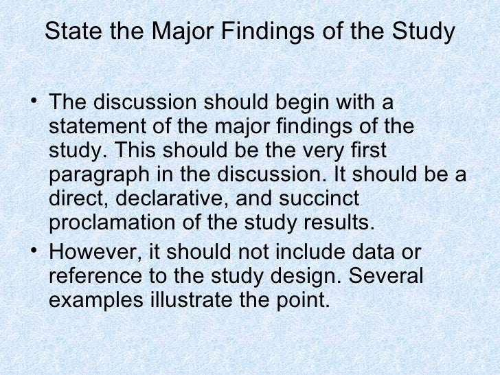Dissertation findings and analysis