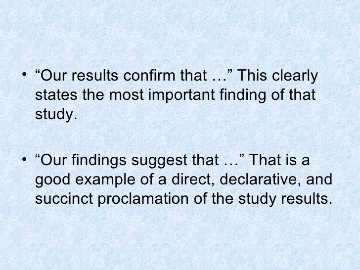 writing up results in a dissertation