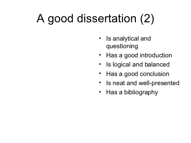 A Good Dissertation Is A Done Dissertation