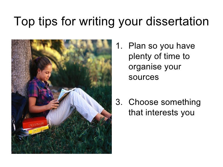 Doing your master dissertation
