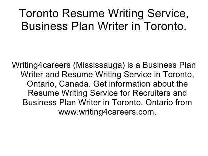 reputable resume writing services toronto