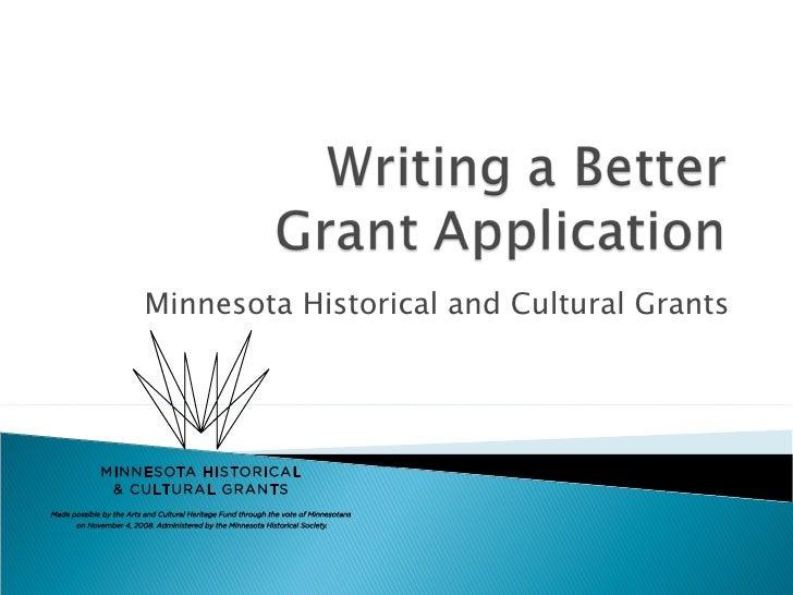 Minnesota Historical and Cultural Grants