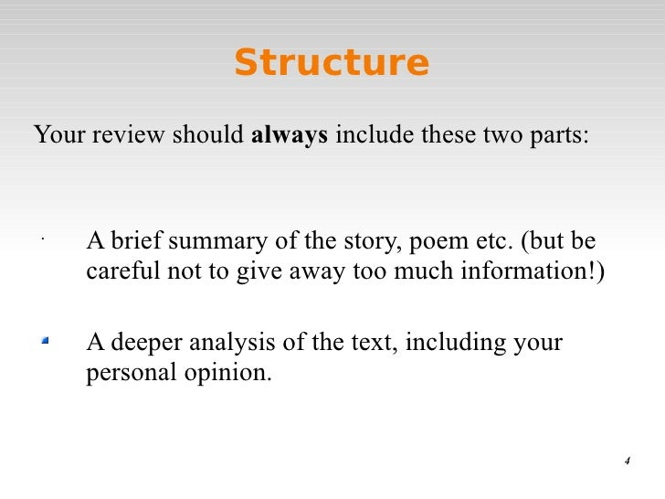 What to include in a book report presentation