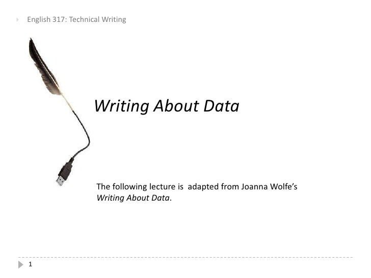 Writing About Data