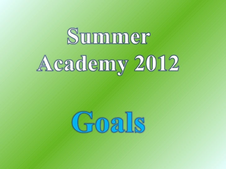 Writing academy