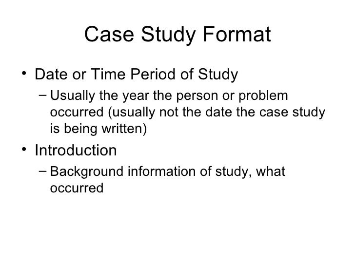 writing case study analysis report