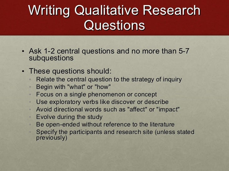 Developing Dissertation Research Question