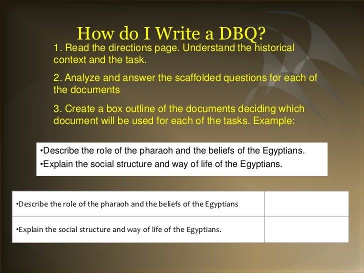 Help writing dbq essay