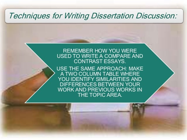 Writing a dissertation discussion