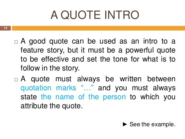 How to start essay with quote example