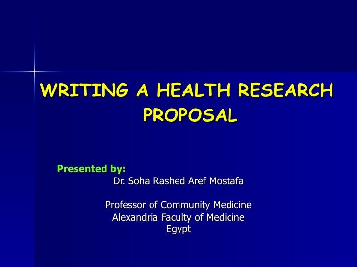 Health research proposal