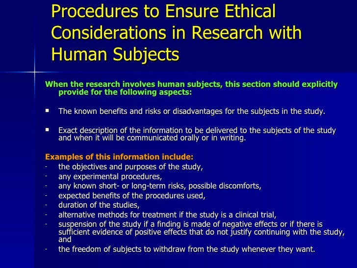 ethical considerations research proposal Ethical considerations in malaria research proposal review: empirical evidence from 114 proposals submitted to an ethics committee in thailand.
