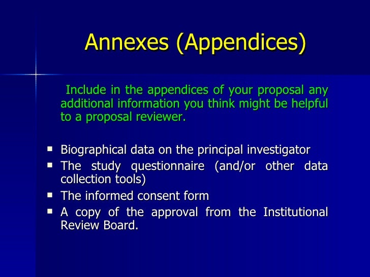 Appendices thesis