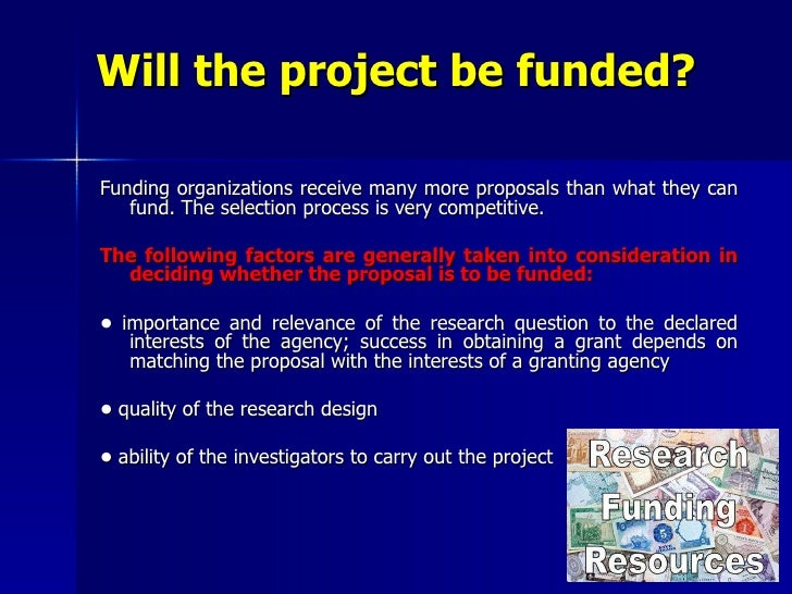 Research Proposal For Funding