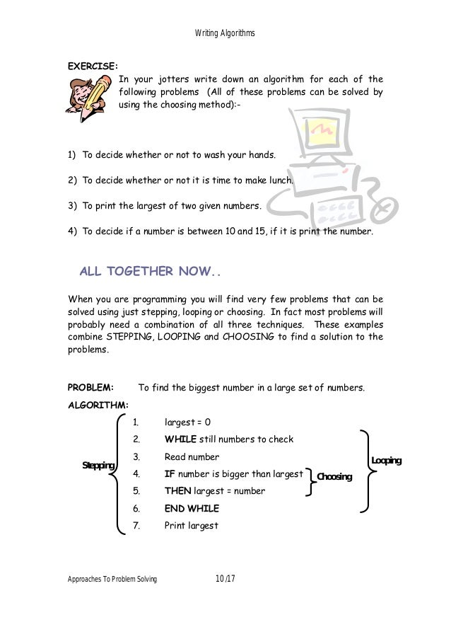 how to write algorithms Practice writing algorithms by not practicing algorithms one approach that i find  very.