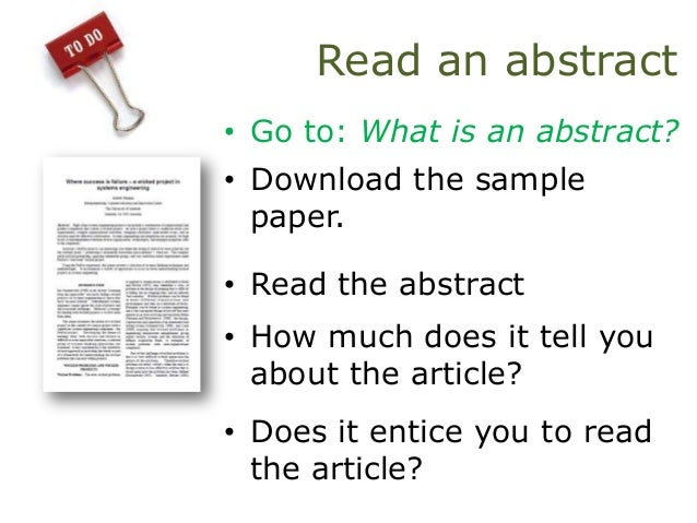 Where does the abstract go