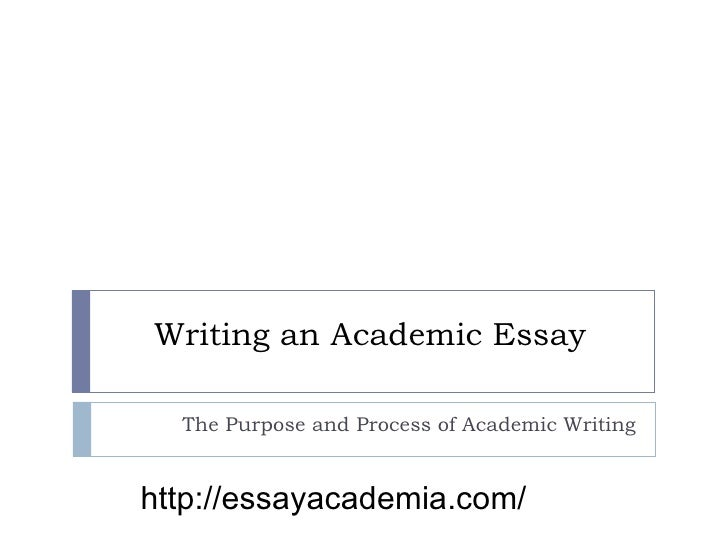 Academic Essay Writing Examples