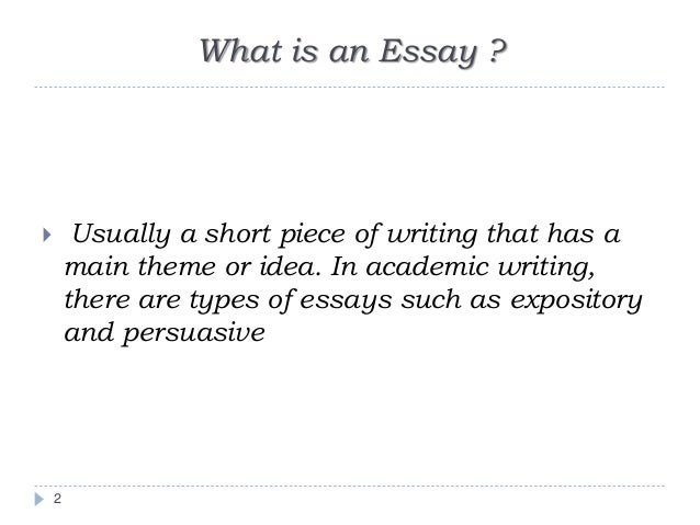 Writing an academic essay