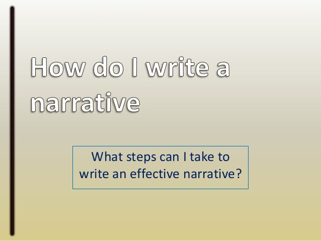 elements of a narrative essay powerpoint