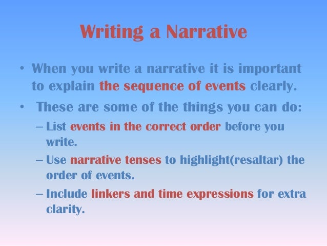 write good narrative essay