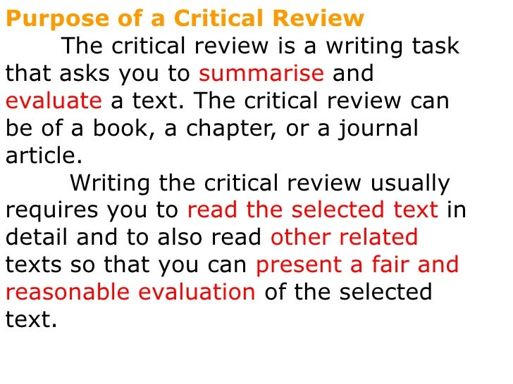 Critical evaluation of a journal article