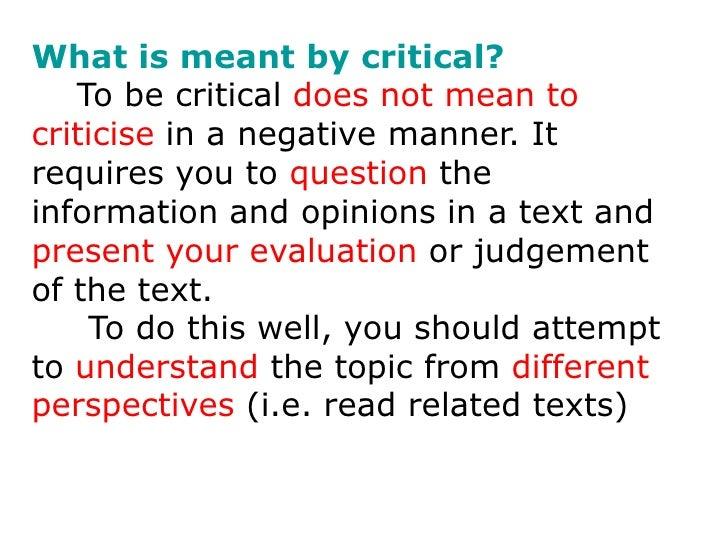 scholarly article critique
