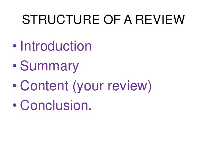 Writing a review of an article