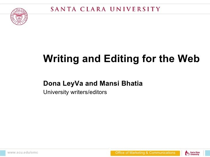 Writing and editing for the web