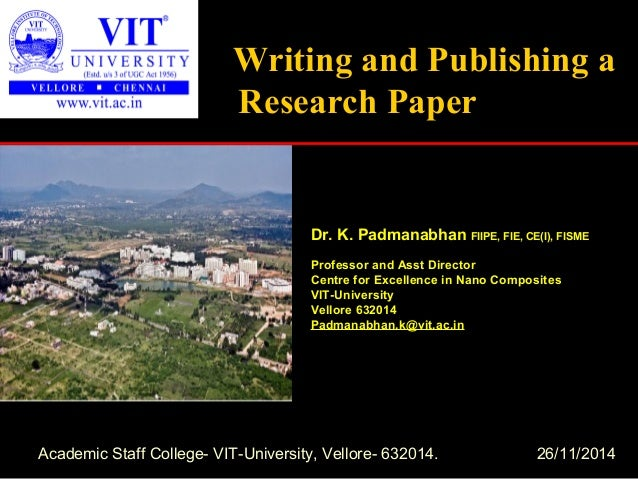 Publishing a research paper