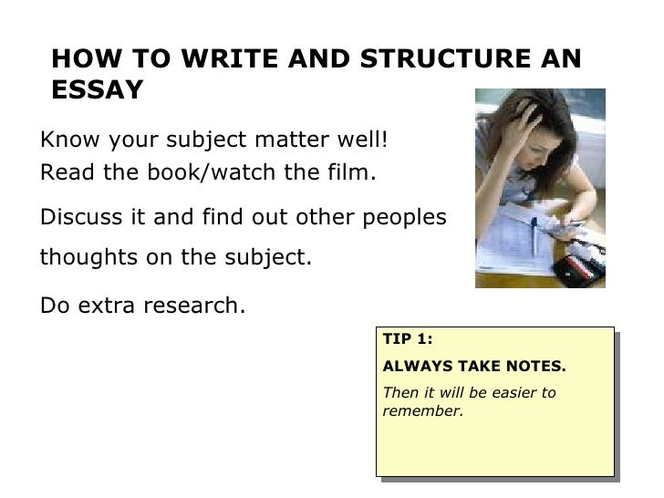 tips on writing and structuring a