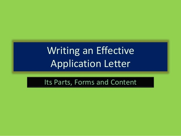 tips on writing an effective application letter Learn how to write a cover letter for your next job application read this for tips on   organisation an effective cover letter demonstrates to a potential employer:.