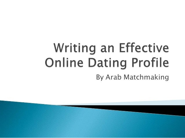 Creating an effective online dating profile