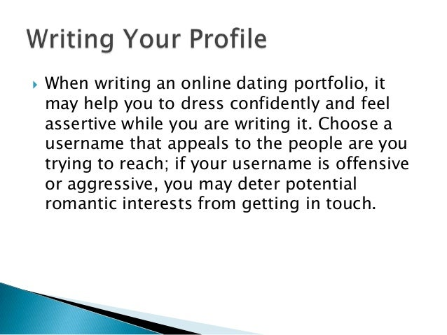 tips to write online dating profile Lisa hoehn will help you make over your online dating profile shares 8 tips to vastly improve your profile get some of her profile makeover tips.