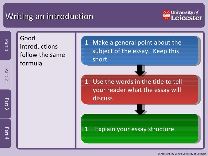 University essay writing skills