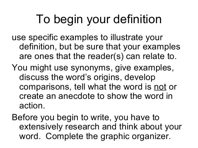Extended Definition Essay Example