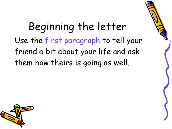 Writing An Informal Letter