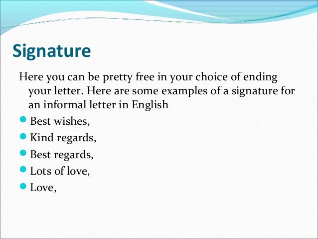 how to write an informal letter in french