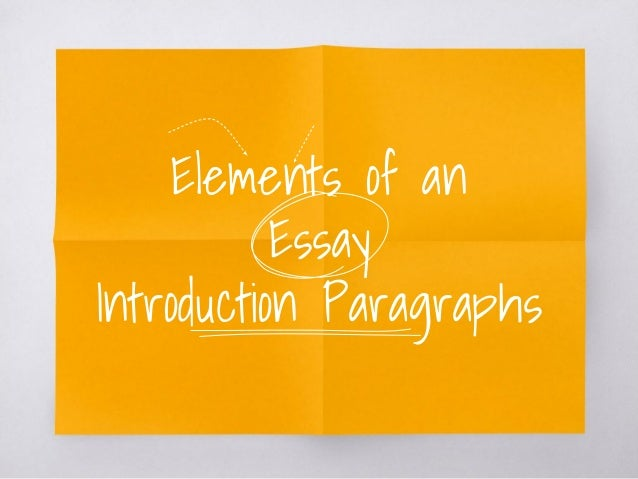 elements essay writing
