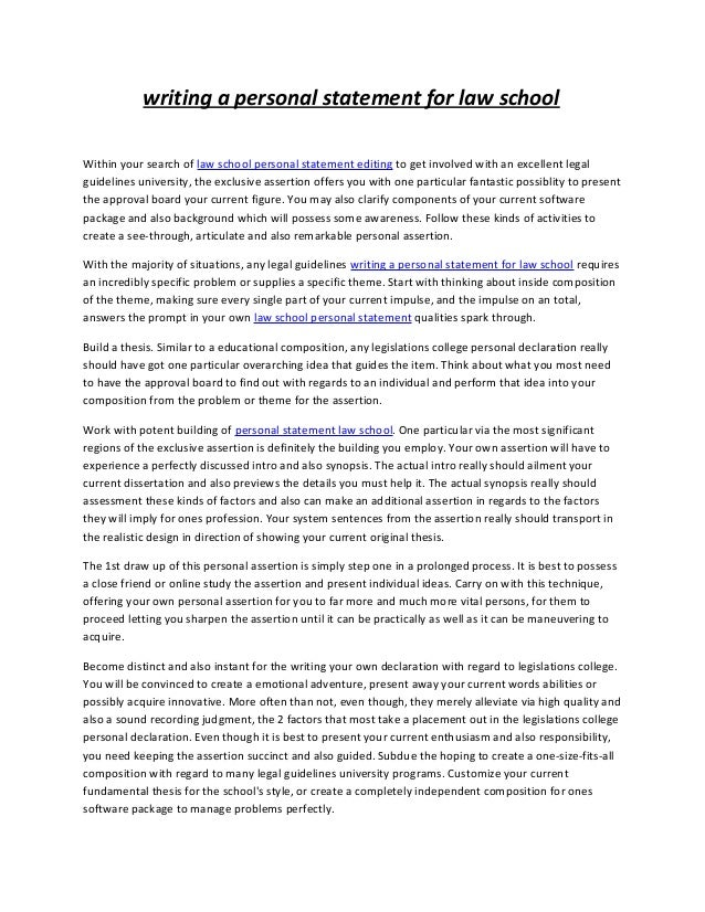 Law School Personal Statement Sample | Personal Statement Writers
