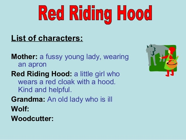 comparative essay of little red riding hood Today i learned how to compare two different stories and to show my thinking in a  venn diagram there are many similarities between little.