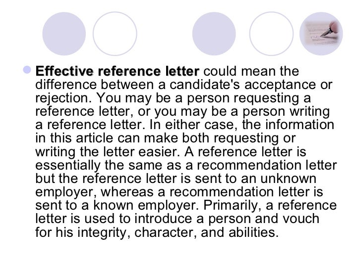 Request Letter For Academic Reference
