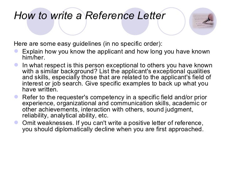 how to write a reference letter for immigration