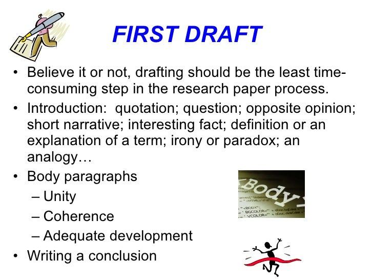 Powerpoint presentation for research paper